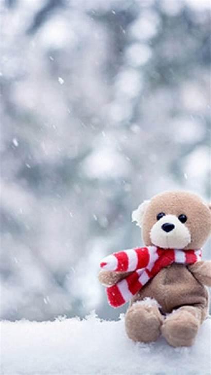 Teddy Bear Iphone Desktop Wallpapers Mobile Winter