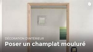 poser un champlat moulure bricolage youtube With poser un encadrement de porte