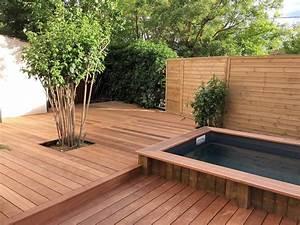 Terrasse Bois Sur Terre : pose d une terrasse bois sur lambourdes et plots pv ~ Dailycaller-alerts.com Idées de Décoration