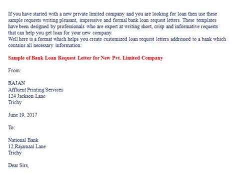 bank loan request letter youtube