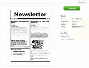 Newsletter templates for microsoft word for Newsletter free templates on microsoft word