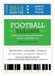 Football Ticket Invitations Templates Free