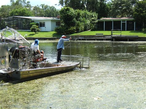 Airboat Grass Rake by Aquatic Plant Management City Of Winter Park
