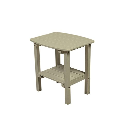 resin outdoor side table shop great american woodies lifestyle collection 17 in