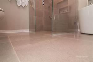 douche plancher chauffant ceramiques hugo sanchez inc With porte de douche coulissante avec plancher chauffant electrique salle de bain