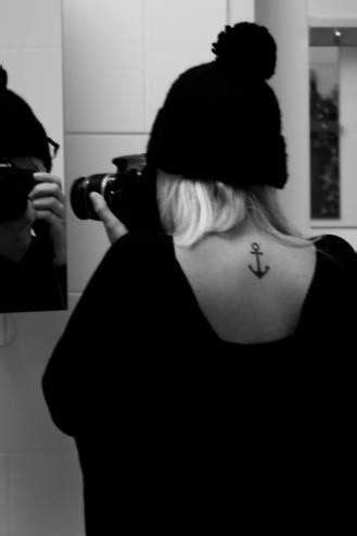 28 Cute Anchor Tattoo Designs   Neck tattoos women, Anchor tattoo design, Anchor tattoos