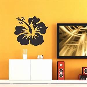 fleur hibiscus stickers muraux nature With chambre bébé design avec fleur d hibiscus tisane