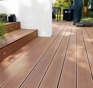 Lame De Bois Pour Terrasse : lame de terrasse composite marron composite ~ Melissatoandfro.com Idées de Décoration