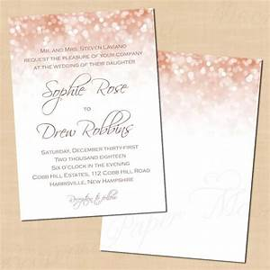 rose gold sparkles wedding invitation 5x7 portrait With rose gold wedding invitations online