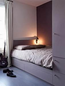 Tete De Lit En Bois Pas Cher : lit avec rangement adulte maison design ~ Teatrodelosmanantiales.com Idées de Décoration