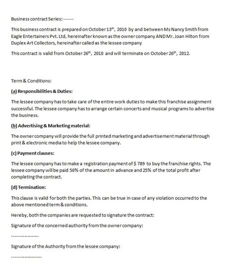 tutoring contract template uk free contract templates word pdf agreements part 6