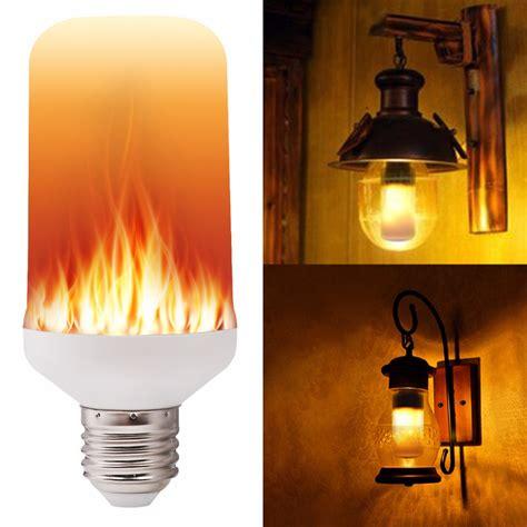 e27 e26 2835 led flame effect fire light bulbs 7w creative