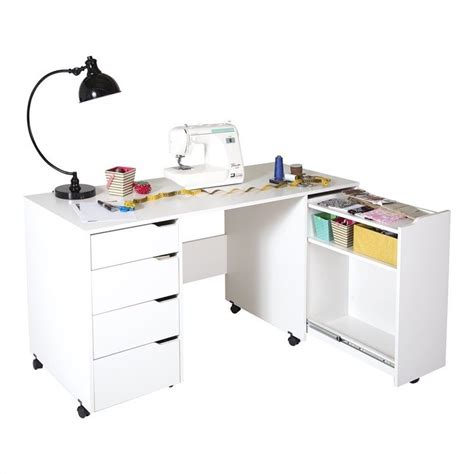 Fillable Craft Table L by South Shore Crea Sewing Craft Table On Wheels In