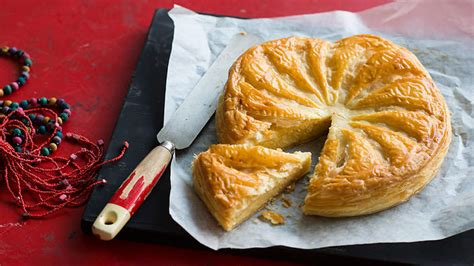 almond custard and puff pastry pie galette de rois recipe sbs food