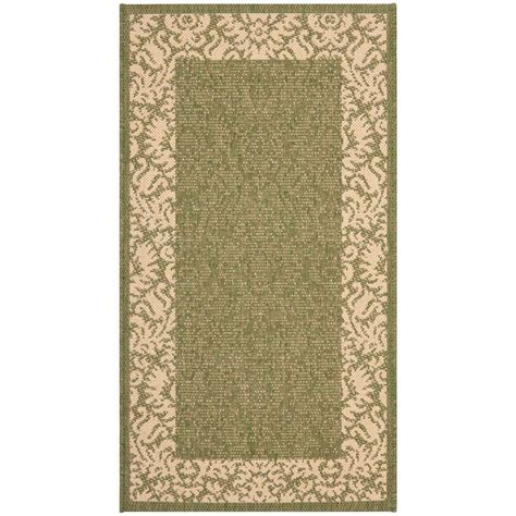 home depot outdoor rugs safavieh courtyard olive 2 ft x 3 ft 7 in