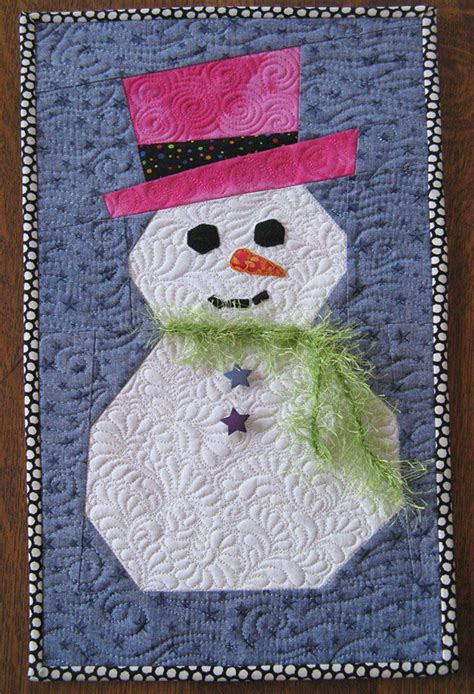 snowman pattern paper piecing  freezer paper