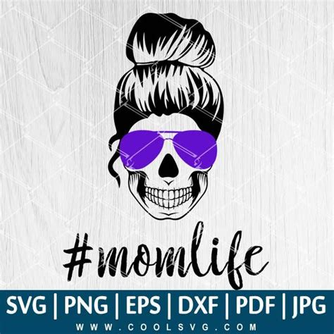 The entire library of our object mockups is at your disposal. Mom Life Skul SVG | Mom Life Skul PNG | Mom Life Skull ...
