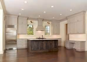 Above Kitchen Cabinet Decor by Taupe Cabinets Transitional Kitchen Sabal Homes Sc