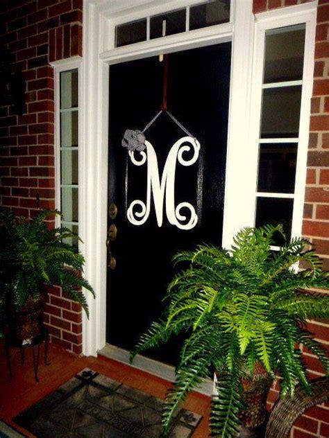 metal initial door wreath  ribbon front door wreaths etsy initial door wreaths door