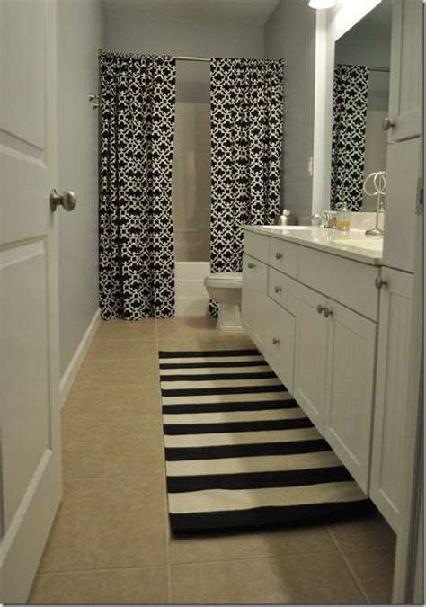 floor to ceiling shower curtain bathrooms