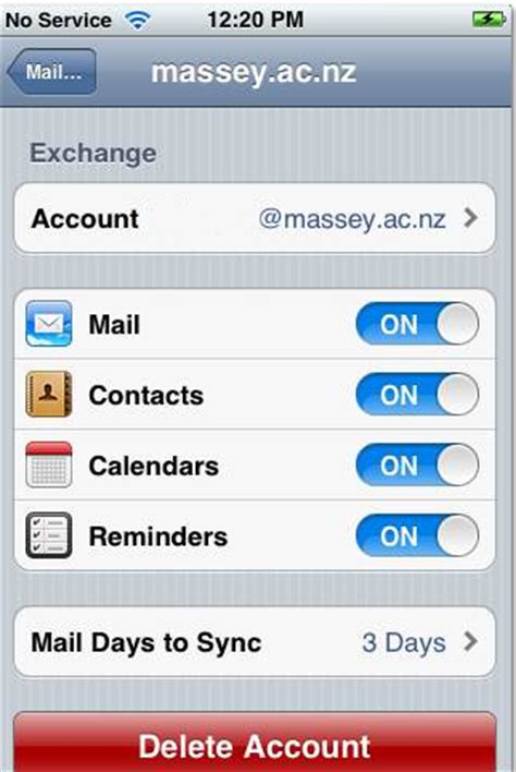 how to update email password on iphone update massey email exchange credentials on an iphone