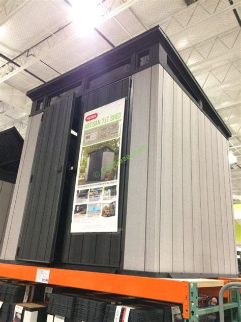 keter    resin outdoor storage shed costcochaser