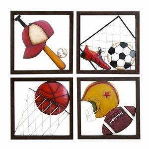 shop woodland imports 4 piece 16 in w x 16 in h framed With kitchen cabinets lowes with sports metal wall art