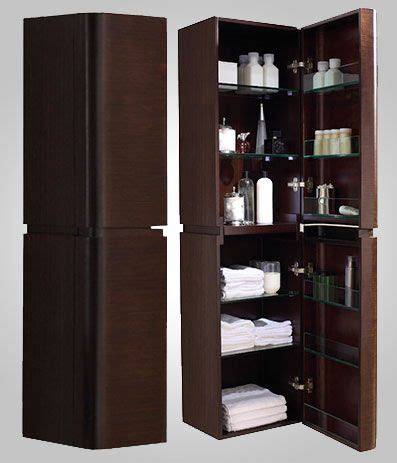 madeli 16 in walnut linen cabinet features 2