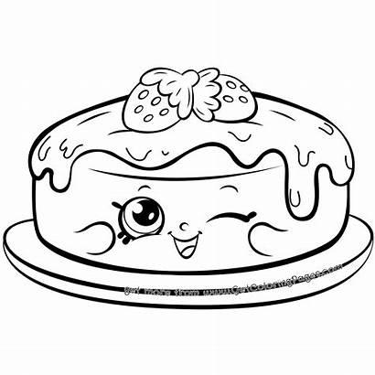 Pancake Coloring Shopkins Pages Season Cake Shopkin