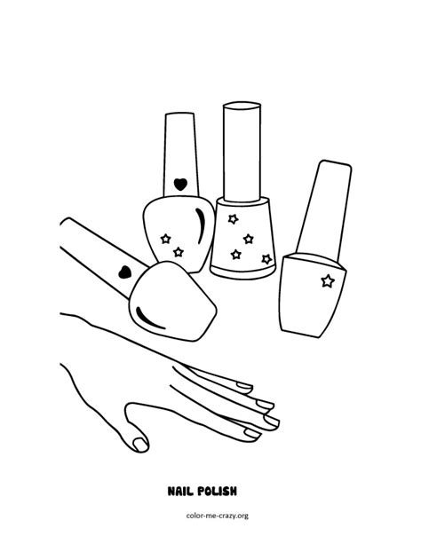 gallery nail coloring page