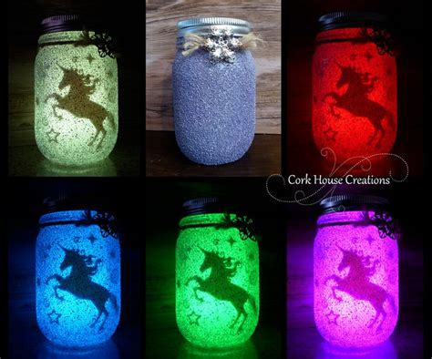 color changing unicorn jar fairy lantern   sale