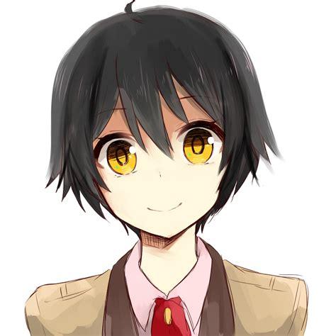 anime yellow eye anime with black hair and yellow www pixshark