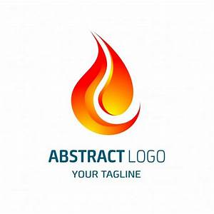 Abstract logo shaped red flame Vector | Free Download