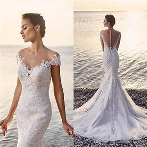 Beach Lace Mermaid Wedding Dress 2017 Sexy Fit And Flare ...