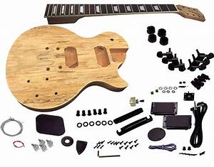 Solo Lp And Unfinished Style Diy Guitar Kit  Mahogany Body