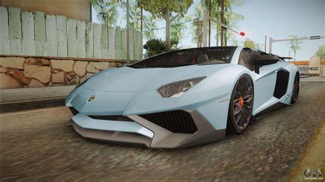 lamborghini aventador sv roadster gta 5 lamborghini aventador sv roadster 2017 for gta san andreas