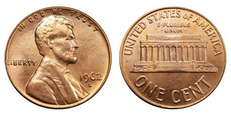 1962 D Lincoln Memorial Cent/penny