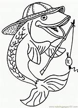 Coloring Fish Reel Rod Coloringpages101 sketch template