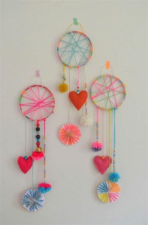 ideen fuer basteln mit kindern spass fuer gross und klein kids crafts traumfaenger