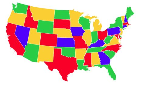 united states colors more with maps