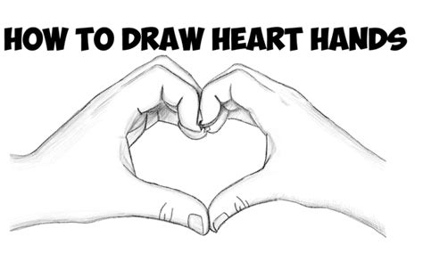 draw heart hands archives   draw step