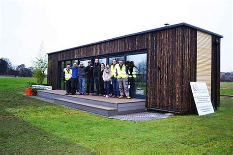 irelands  shipping container home built   days houses homeless people