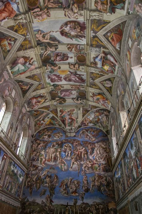 Painted The Ceiling Of The Sistine Chapel In Rome by Sistine Chapel Ceiling