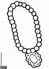 Necklace Coloring Pearl Pages Printable Beads Jewelry Preschool Getcolorings sketch template
