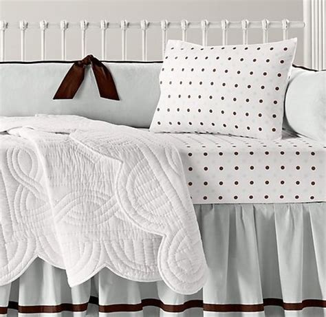 restoration hardware baby and child crib bedding set