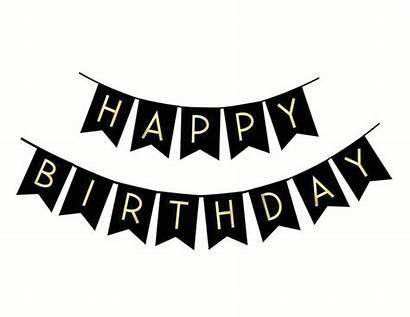 Birthday Banner Happy Gold Letter Party Walmart