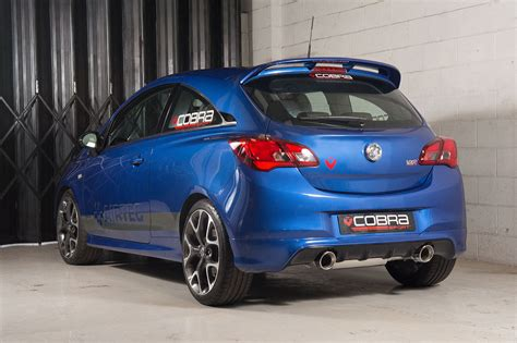 opel corsa e tuning available now vauxhall corsa e vxr performance exhaust systems by cobra sport made in