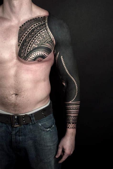 black sleeve tattoo  man tatuajes spanish tatuajes