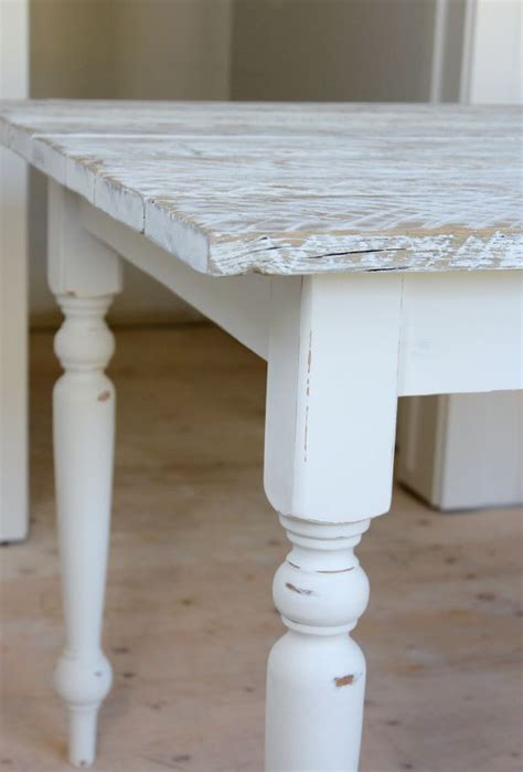 Tisch Weiss Holz by Salvaged Wood Farmhouse Table Diy Home Projects