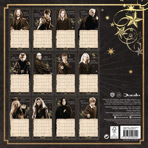 calendario harry potter em europosterspt